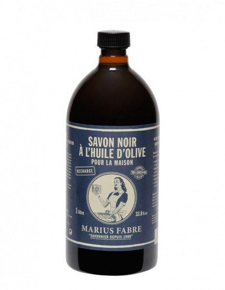 Černé mýdlo olivové (vintage, tekuté 1l) - Marius Fabre