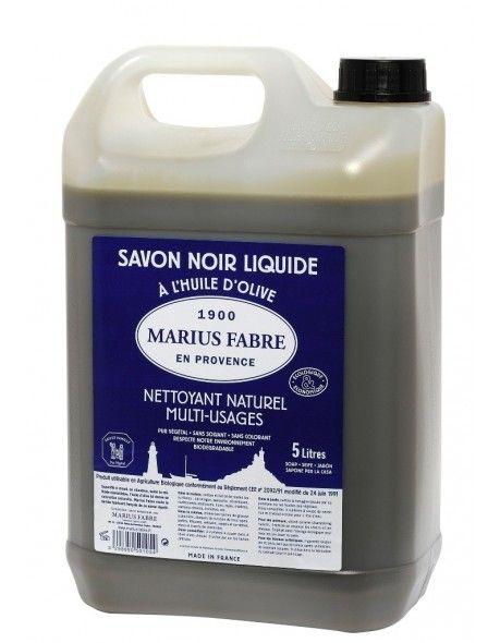Černé mýdlo olivové (tekuté 5l) - Marius Fabre